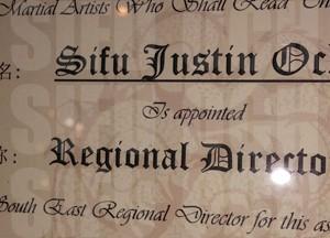 southeastern regional director, world ving tsun athletic association, sifu justin och, wvtaa