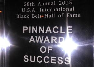 pinnacle of success, achievement, award, sifu justin och, best wing chun, best wing chun teacher, best wing chun fighter,