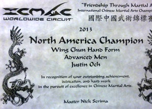 international chinese martial art competition north american champion wing chun kung fu advanced hand forms icmac