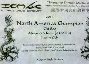 north american champion wing chun kung fu advanced men chi sau division icmac international chinese martial art competition