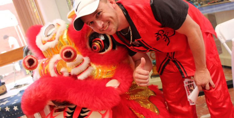Chinese Lion Dance Team at the Polk Museum of Art