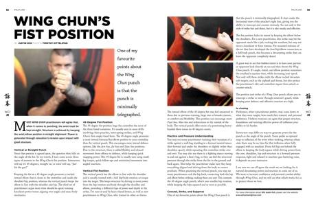 Wing Chun Illustrated, Wing Chun Fist, Wing Chun Fist position, fist position, wing chun, kung fu, wing chun magazine, international magazine, wing chun article, wing chun power, one inch punch, 1 inch punch, bruce lee punch