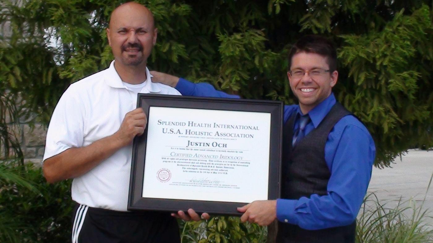 Master Nelson Rios, Dr Nelson Rios, Sifu Nelson Rios, Sifu Rios, Herbology, Iridology, Certificate